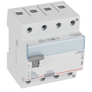 Выключатель дифференциального тока TX 4П 25 А тип AC 30 мА (УЗО)