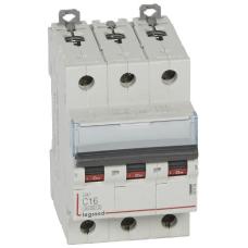 Автоматический выключатель DX3 3П С6A 6000/10kA
