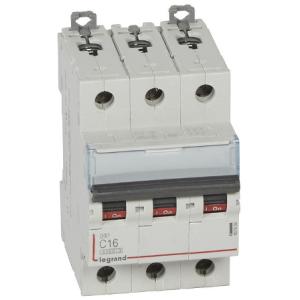 Автоматический выключатель DX3 3П С10A 6000/10kA