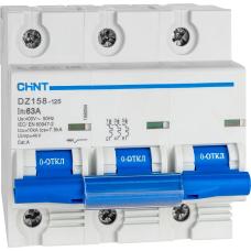 Автоматический Выключатель DZ158 3P 100A 10kA х-ка (8-12In) | ✔️CHINT