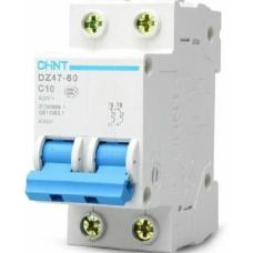 Автоматический Выключатель DZ47-60 2P 50A 4.5kA х-ка D | ✔️CHINT