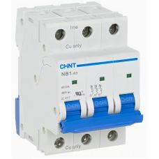 Автоматический Выключатель NB1-63 3P 10A 6кА х-ка C | ✔️CHINT