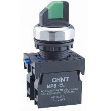 Переключатель с фиксацией NP8-10X/21 без подсветки  черная 1НО IP65