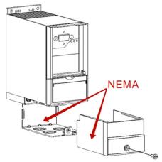Монтажный набор для повышения уровня защиты до Nema Type 1 для корпуса M5 (18.5-22кВт)