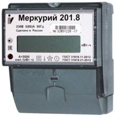 Счетчик 1-фазный 1-тарифный 5-80А Меркурий 201.8