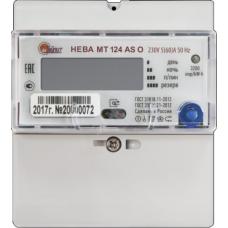 Счетчик 1-фазный многотарифный НЕВА МТ 124 AS O 5-60А