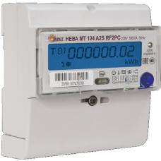 Счетчик 1-фазный многотарифный НЕВА МТ 124 AR2S E4PC 5-60А