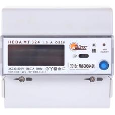 Счетчик 3-фазный многотарифный НЕВА 5-60А МТ 324 1.0 AO S26