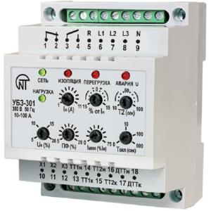 УБЗ-301  (10-100А) Универсальный блок защиты асинхронных ЭД