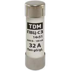 Плавкая вставка ПВЦ-С3 14х51 63А TDM