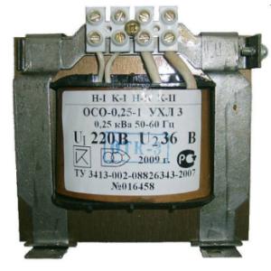 Трансформатор понижающий ОСО-0,25 0,1 220/12-24-36-42-110