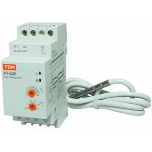 Реле температуры РТ-820 (-5+40С, 24-240В АС/DC, с датч. IP67)