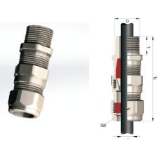 Взрывозащищенный кабельный ввод серии АВВКу для бронированных кабелей Ø 16-63