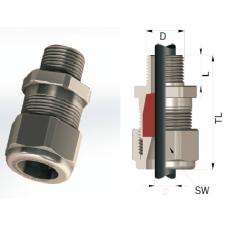 Взрывозащищенный кабельный ввод серии ВВКу для не бронированных кабелей Ø 16-63